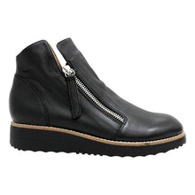 Top End Ohmy Black/Black Sole Zip Up Leather Boot