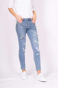 Bianco Barbera Boyfriend Light Denim Jean