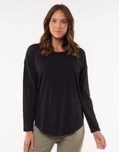 Foxwood MacKenzie Long Sleeve Crew Black