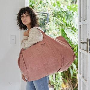 Pony Rider Market Carry - Large Dusty Pink