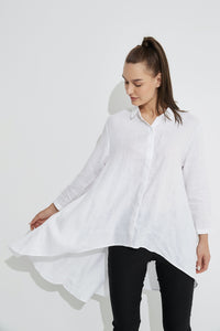 Tirelli Drop Side Shirt- White