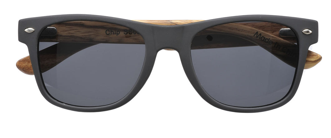 Sticks & Sparrow Chip Matte Black Mahogany Temples