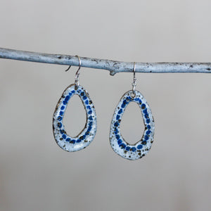 Cara Edwards Textured Shells Blue Dots