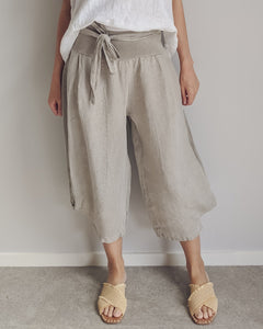 Purolino Lalia 7/8th Pant with Belt Pebble
