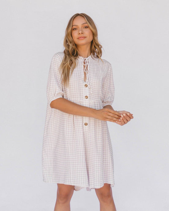 Lullaby Club Cody Playsuit Lilac Gingham