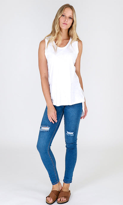 3rd Story Madison Tank White