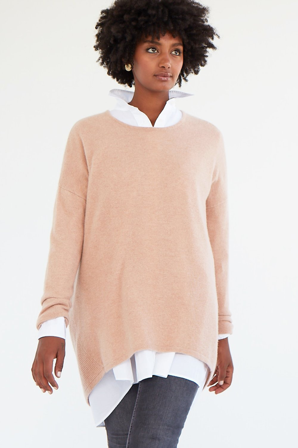 Mia Fratino Favourite Scoop Pullover Cameo Rose