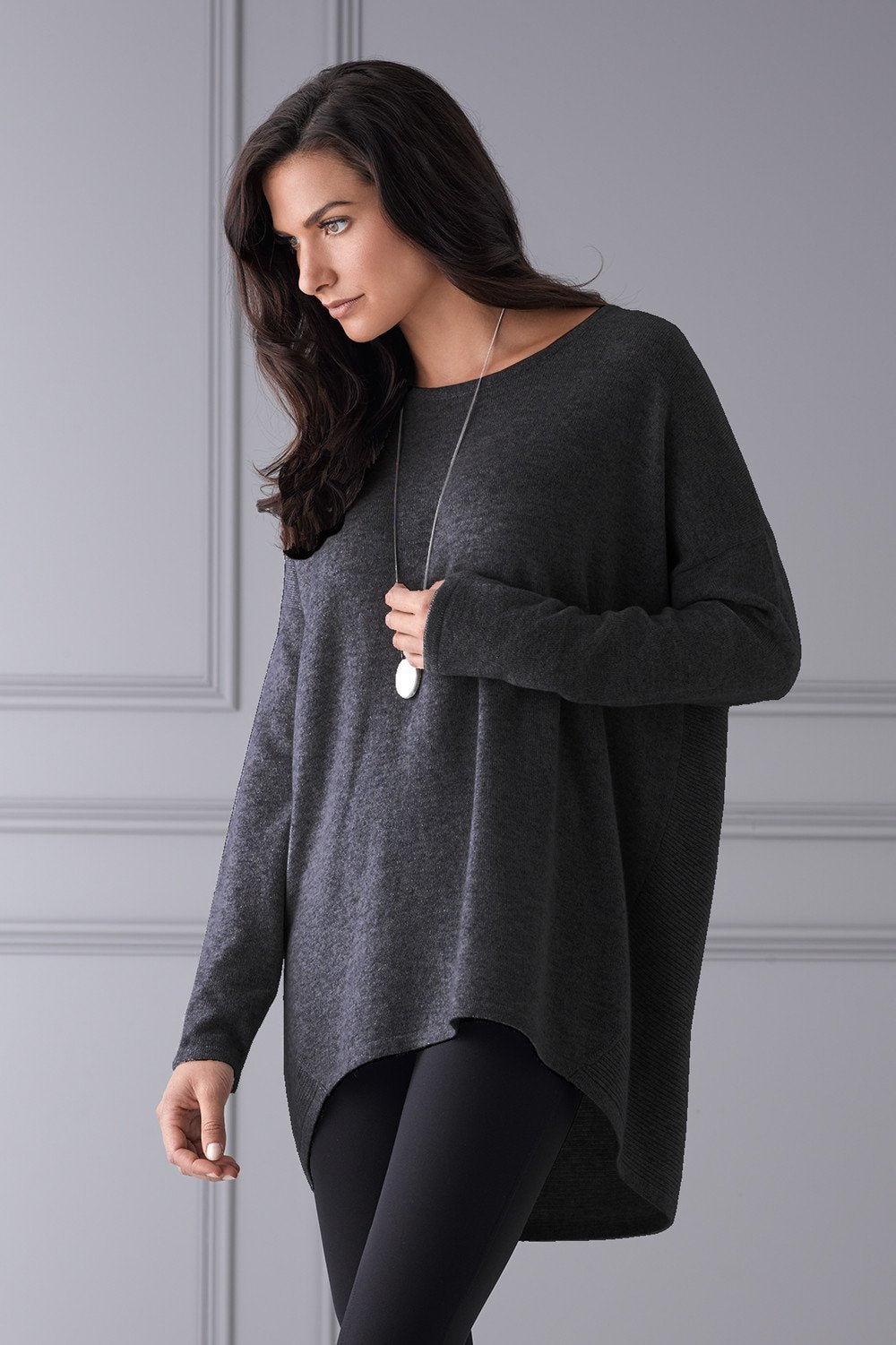 Mia Fratino Favourite Scoop Pullover Charcoal