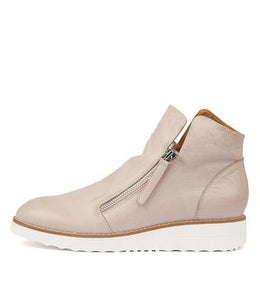 Top End Ohmy Ash White Sole Zip Up Boot