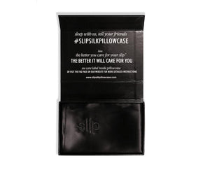 Slip Pure Silk Pillowcase Black