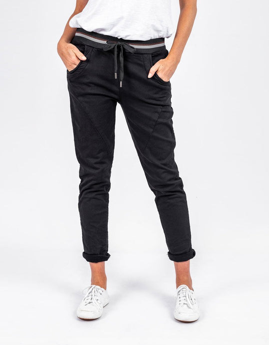 Italian Star Ralph Denim Jogger Jeans Black