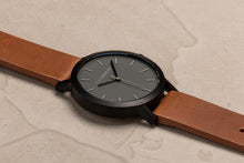 The Horse Matte Black / Tan Leather
