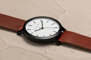 The Horse Matte Black/White Face/Tan Band