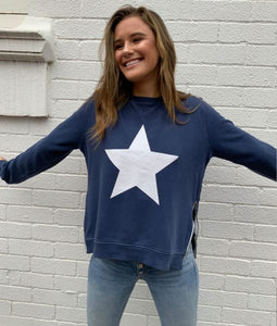 Sophie  Moran Navy White Star Sweater
