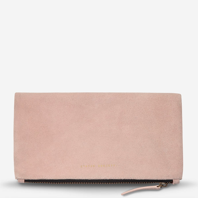 Status Anxiety Feel The Night Clutch Dusty Pink