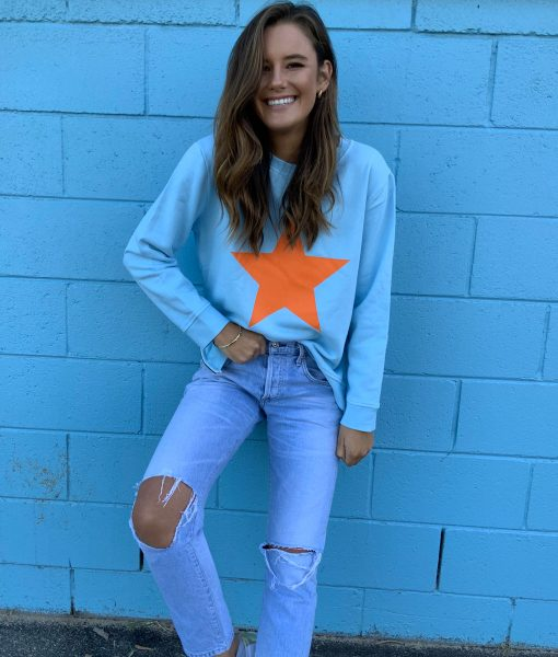 Sophie  Moran Baby Blue Orange Star