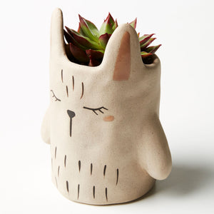 Jones & Co Grey Rabbit Planter