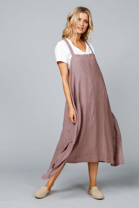 The Shanty Cefalu Sundress Sienna Linen