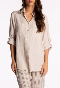 Ridley Button Up Shirt Beige