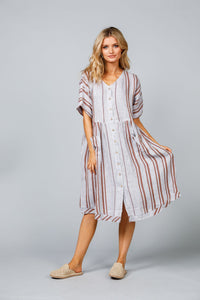 The Shanty Orchard Dress Lido Stripe