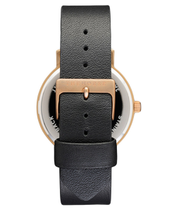 The Horse Polished Rose Gold / Black Dial / Black Leather