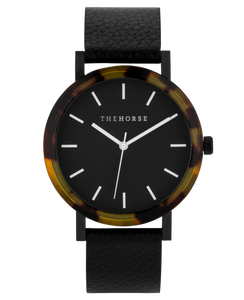 The Horse - The Resin Brown Tortoise Shell / Black Dial / Black Leather