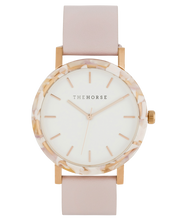 The Horse - The Resin Pink Nougat Shell / White Dial / Baby Pink Leather