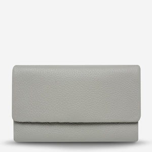 Status Anxiety Audrey Wallet Pebble Light Grey