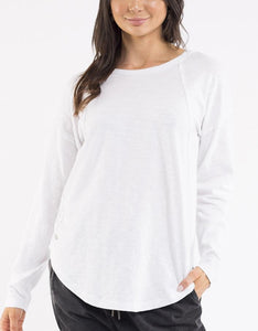 Foxwood MacKenzie Long Sleeve Crew White