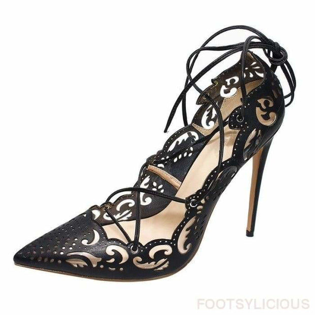 Ada Cutout High Heel Pumps - Shoes Footwear Footsylicious