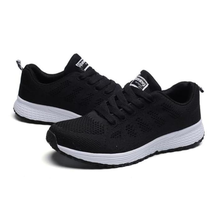 Air Cushion Running Sneakers - Black / UK4 - Sneakers Footsylicious