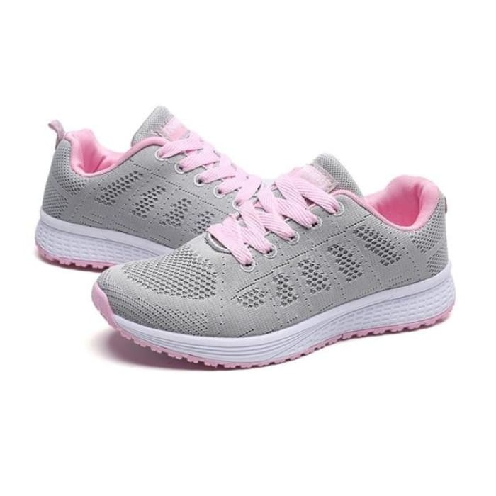 Air Cushion Running Sneakers - Gray / UK4 - Sneakers Footsylicious