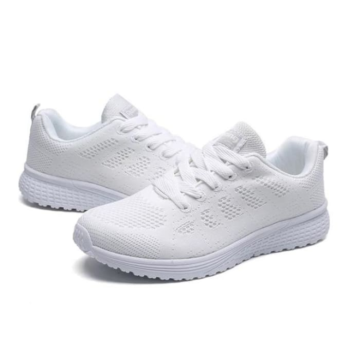 Air Cushion Running Sneakers - White / UK4 - Sneakers Footsylicious
