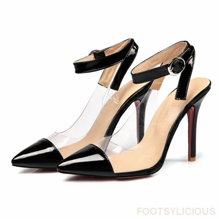 Alexis Pointed Toe Transparent Pumps - Shoes Footsylicious
