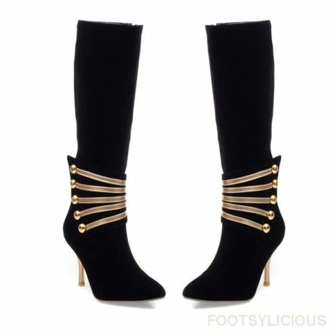 Alice Elegant Boots - Black / UK3.5 - Knee High Boots Footsylicious