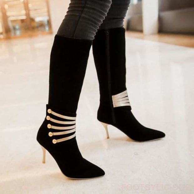 Alice Elegant Boots - Knee High Boots Footsylicious
