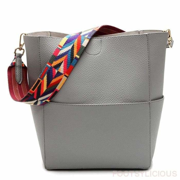 Art Strap Upright Solid Tote - Handbag Footsylicious