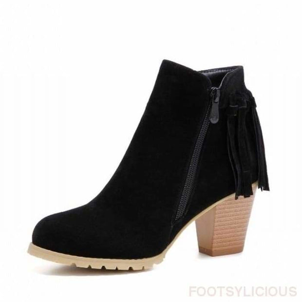 Aty Ankle Boots - Black / UK3 - Ankle Boots Footsylicious