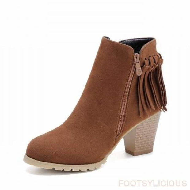 Aty Ankle Boots - Brown / UK3 - Ankle Boots Footsylicious