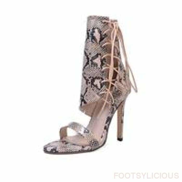 Ayo Snakeskin Lace up Pumps - snake / UK3.5 - Shoes Footsylicious