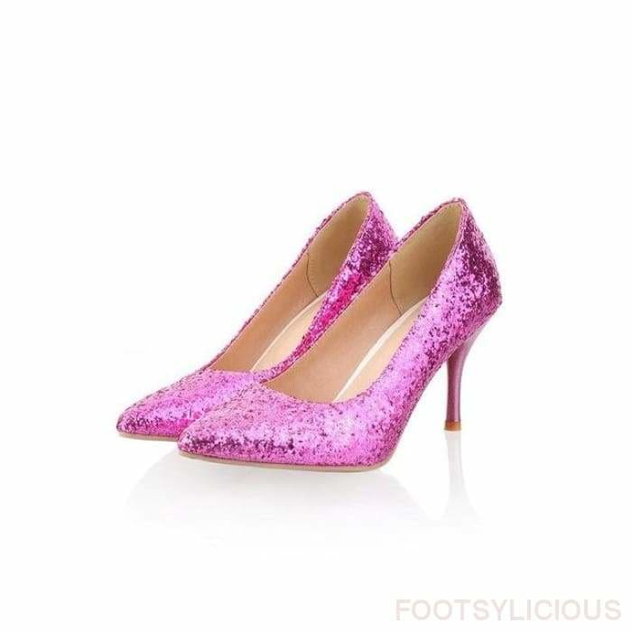 Cara Pointed Toe Pumps - Purple / UK3.5 - Shoes Footsylicious