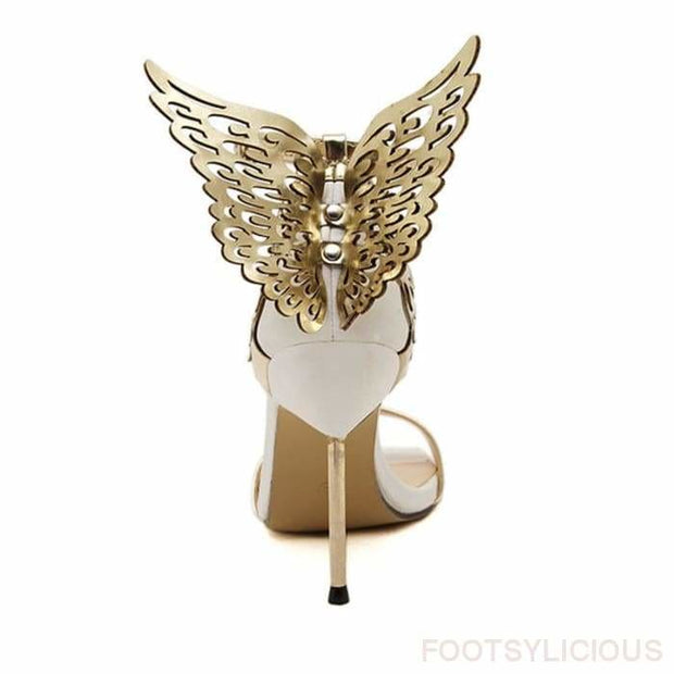 Carol Angel Wings Stiletto Sandals - Sandals Footsylicious