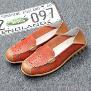 Catherine Slip On Loafers - Orange / UK 3.5 - Flat Shoes Footsylicious