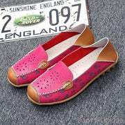 Catherine Slip On Loafers - Red / UK 3.5 - Flat Shoes Footsylicious