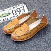 Catherine Slip On Loafers - Yellow / UK 3.5 - Flat Shoes Footsylicious