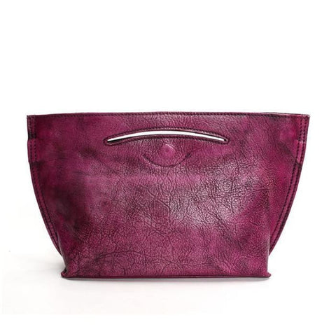 Classic Bucket Handbag - Purple - Handbag Footsylicious
