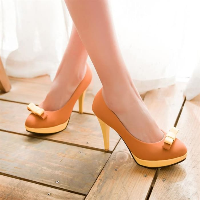 Colour Block High Heel Shoes - Footsylicious