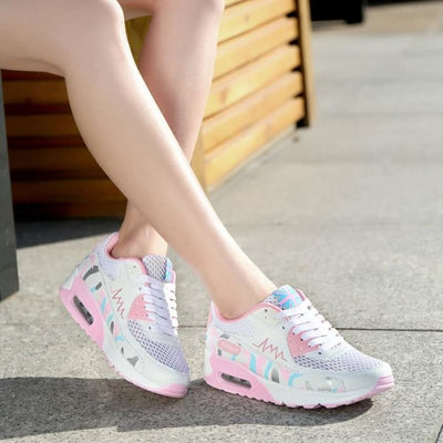 Comfortable Breathable Running Sneakers - White / UK3.5 - Sneakers Footsylicious
