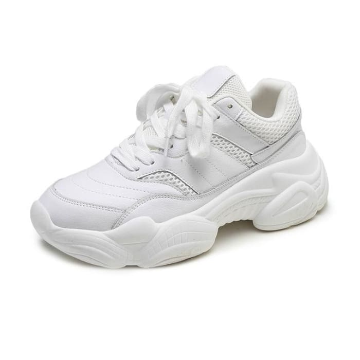 Comfortable Breathable Sneakers - White / UK3.5 - Sneakers Footsylicious