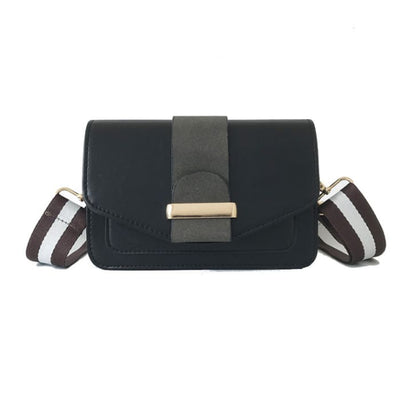 Contrast Colour Handbag - Black - Handbag Footsylicious